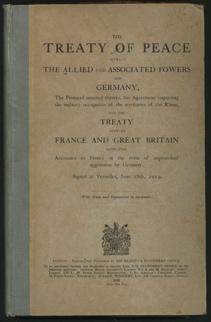Treaty of versaille
